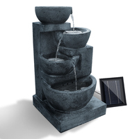 Blue Bowl Solar Water Fountain Four-Tier LED Light
