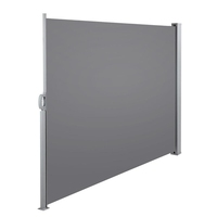 Grey Retractable Polyester Shade Side Awning 180cm