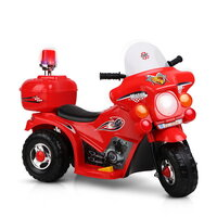 Kids Red Ride On Motorbike with Triple Wheel Design