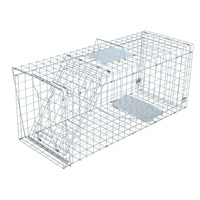 Humane Animal Trap Cage in Silver - 108 x 40 x 45cm