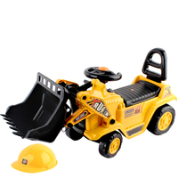 Kids Ride On Car - Bulldozer in Yellow with Helmet