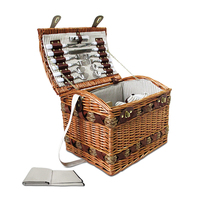 Picnic Basket Set for 4 + Cheese Board + Blanket