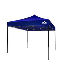 3x3m Pop Up Garden Outdoor Gazebo Blue Adjustable