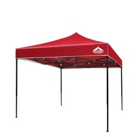 3x3m Pop Up Garden Outdoor Gazebo Red Adjustable