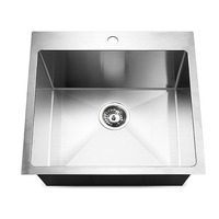 Stainless Steel Angled Kitchen Sink 530 x 500mm