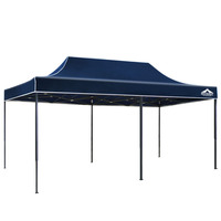 Portable Water Resistant Pop Up Gazebo in Blue 3x6m