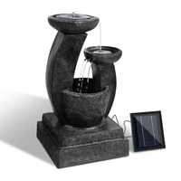 Solar Power LED Three Tier Fountain Water Feature