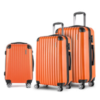 3 Size Hard Suitcase Travel Luggage Set in Orange