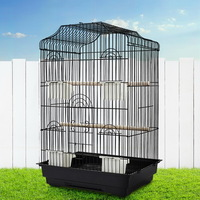 Small Wrought Iron 2 Perch Aviary Bird Cage 68cm