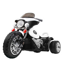 Police Electric Kids Ride On Motorbike Tricycle 6V