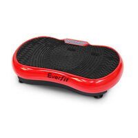 Exercise Vibrating Machine 1000W with Wheels - Red