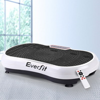 Exercise Vibrating Machine 1000W with Wheels White