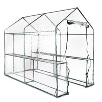 Transparent 4 Shelf Portable Greenhouse 1.9x1.2m