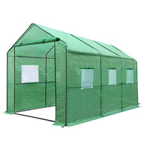 Outdoor Portable Greenhouse with PE Cover - 3.5x2m