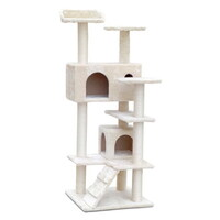 Cat Scratching Post Tree House Condo in Beige 134cm