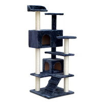 Cat Scratching Post Tree House Condo in Grey 134cm