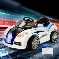 Kids Ride On Car in White with Remote Control 12V