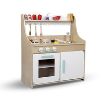 11 Piece Wooden Kids Kitchen Set in Natural