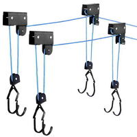 2 x Kayak Hoist Ceiling Racks - 60kg