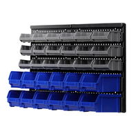 30 Bin Wall Mounted Workshop Storage Rack