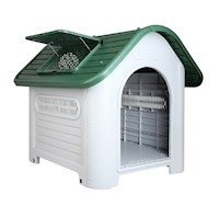 Heavy Duty Plastic Dog Kennel House in Green 76cm
