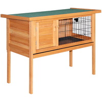 Rabbit Hutch Guinea Pig Cage on Legs w/ Hinged Lid