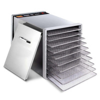 10 Tray Stainless Steel Food Dehydrator 630W 240V