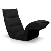 375 Degree Adjustable Floor Chair Lounge in Black