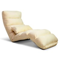 75 Degree Adjustable Floor Chair Lounge in Taupe