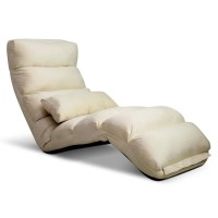 75 Degree Adjustable Floor Chair Lounge in Ivory