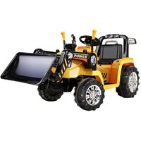 Kids Electric Ride On Car Bulldozer in Yellow 6V