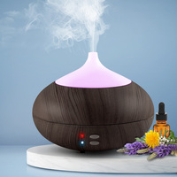 4 in 1 Dark Wood Ultrasonic Aroma Diffuser 300ml