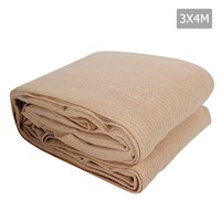 Heavy Duty Shade Sail Canopy in Beige 185gsm 3x4m