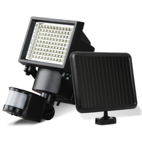 2x Outdoor Solar Sensor Lights with 100 Bright LEDs
