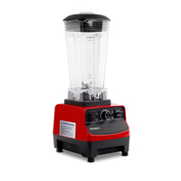 2-in-1 BPA Free Food Processor & Blender Red 2L