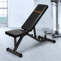 Everfit Adjustable Weight Bench in Black 126cm