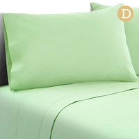 4pc Double Size Soft Microfibre Sheet Set in Green