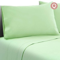 4pc Queen Size Soft Microfibre Sheet Set in Green