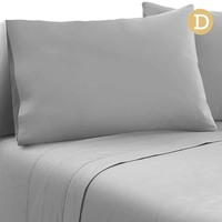 4pc Double Size Soft Microfibre Sheet Set in Grey