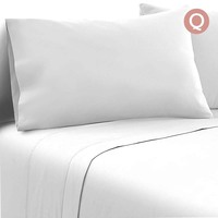 4pc Queen Size Soft Microfibre Sheet Set in White