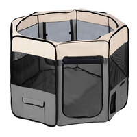 X-Large Portable Pet Indoor Exercise Playpen Grey