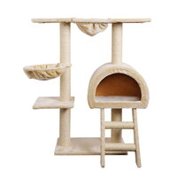 Cat Scratching Pole Tree w/ Ladder  Hammock & House