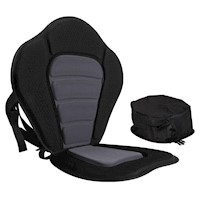 Adjustable Kayak Pedded Seat w/ Bag Grey Black
