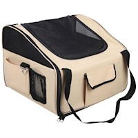 Pet Dog Cat Car Seat Carrier Travel Bag Large Beige