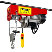 Vertical Electric Hoist Winch 1200W 300/600KG