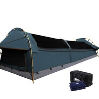 Double Camping Canvas Swag Tent w/ Air Pillow Navy