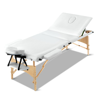 Wooden Portable Folding Massage Table w/ Foam Cover