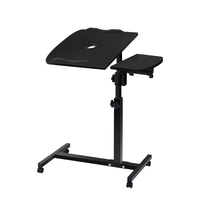 Rotating Mobile Laptop Desk with USB Cooler Black