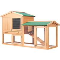 Double Rabbit Hutch Guinea Pig House Run Large