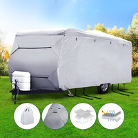 Small 4 Layers 4 Side Open Caravan Cover and Straps